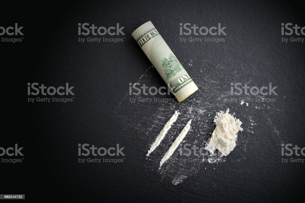 Cocaine drug addiction. royalty-free 스톡 사진