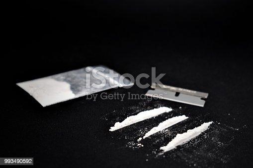 istock Cocaine line stock images 993490592