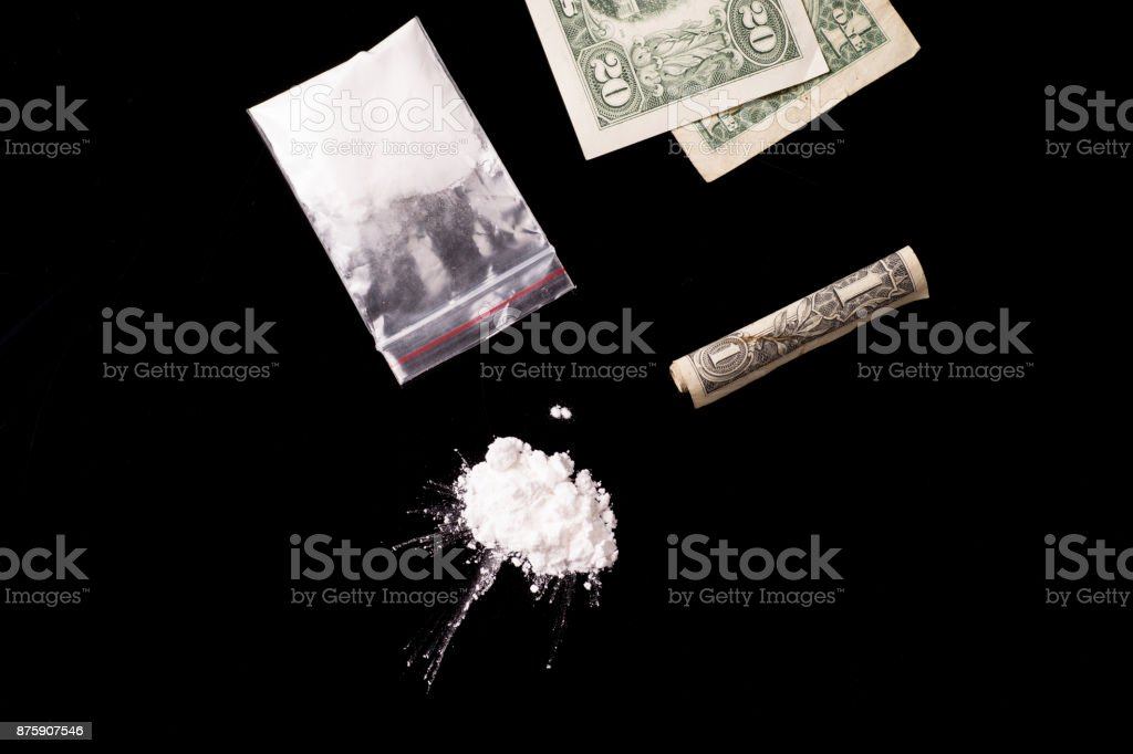 cocaine or other illegal drugs stock photo