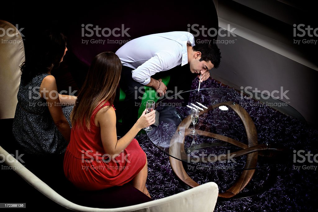 Cocaine Party royalty-free stock photo