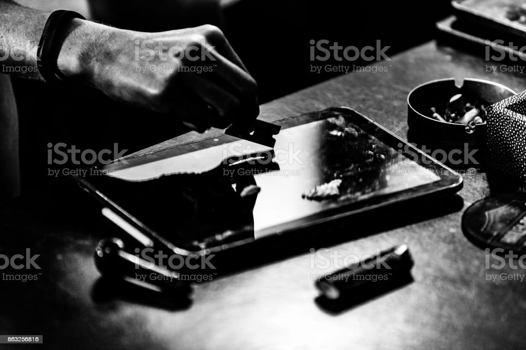 Cocaine use and addiction has become a mainstream problem in many countries, especially in the United States. stock photo