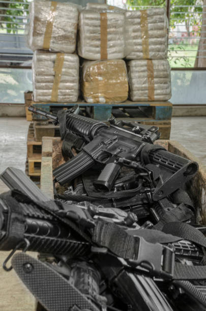 Cocaine warehouse Illegal drug production drug cartel stock pictures, royalty-free photos & images