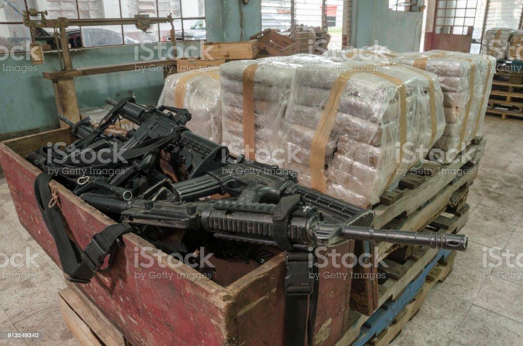 Armazém de cocaína - foto de acervo
