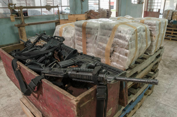cocaine warehouse - narcotic stock pictures, royalty-free photos & images