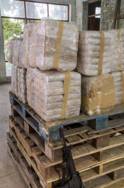 Cocaine warehouse Representation of an illegal drug warehouseRepresentation of an illegal drug warehouse drug cartel stock pictures, royalty-free photos & images