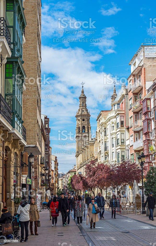 Co-cathedral of Santa Maria de la Redonda of Logroño, Spain. stock photo