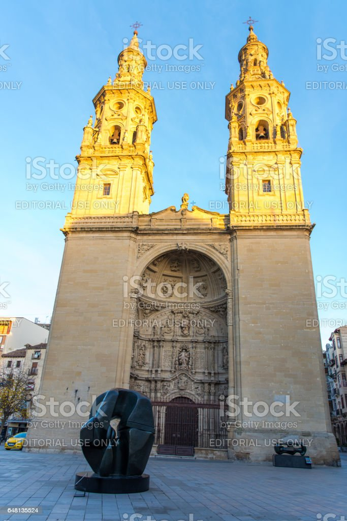 Co-Cathedral of Santa Maria de la Redonda of Logroño, Spain stock photo