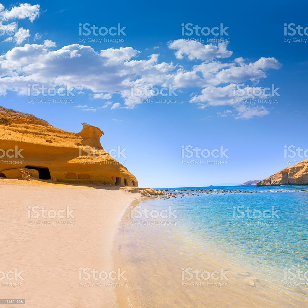 Cocedores beach in Murcia near Aguilas Spain stock photo