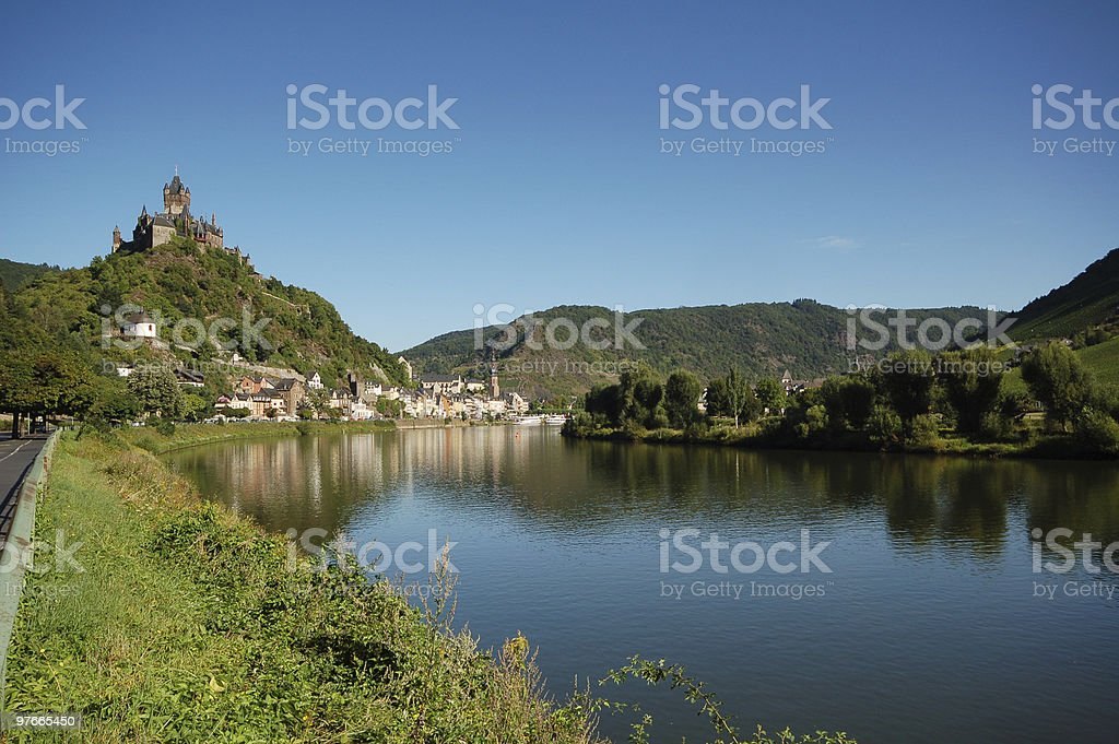 Cochem at Mosel River stock photo