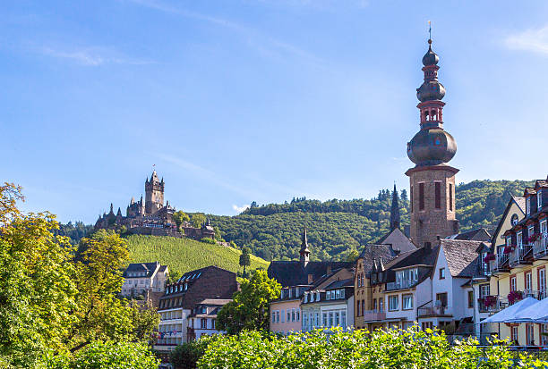 Cochem town on the Mosel Panorama – Foto