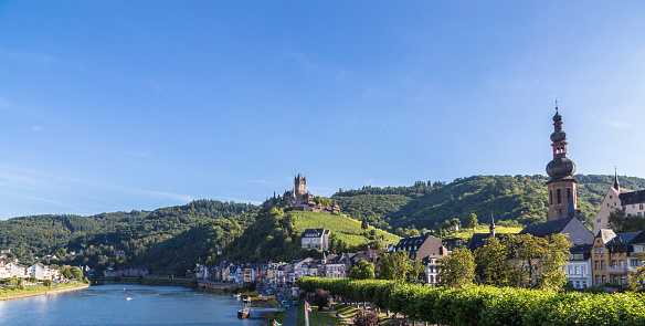 Cochem town on the Mosel Panorama