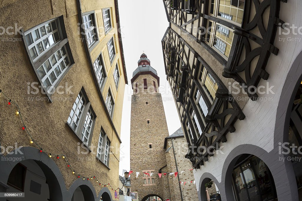 Cochem village at Mosel valley stock photo