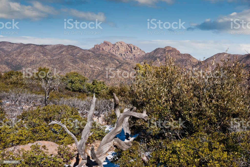 Cochise Head from Massai Point stock photo
