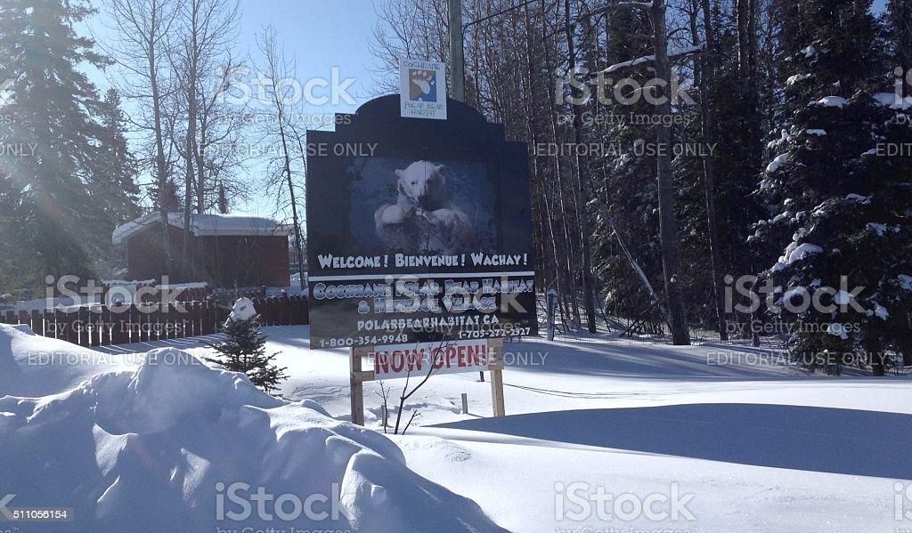 Cochrane Polar Bear Habitat stock photo