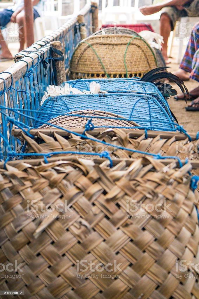 Cock Baskets stock photo