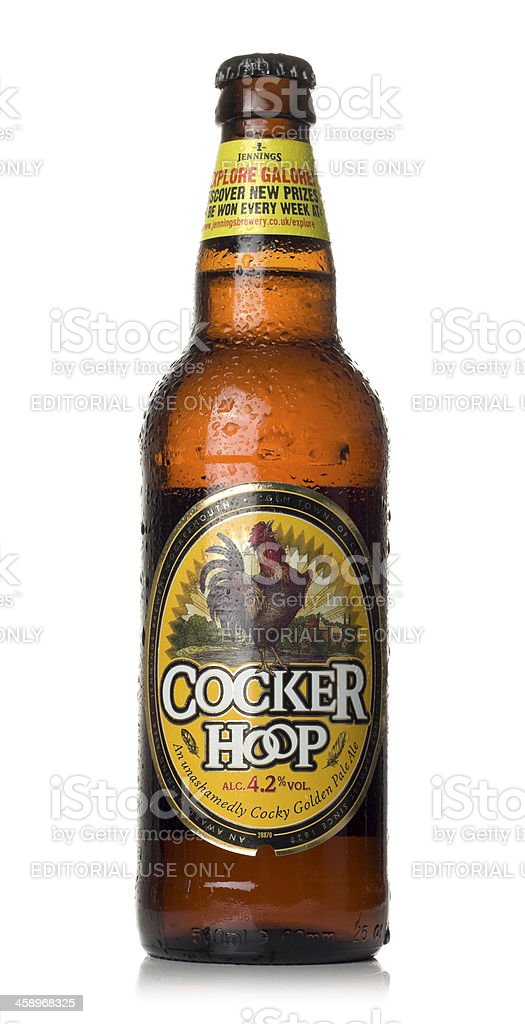 Cocker Hoop Pale Ale stock photo