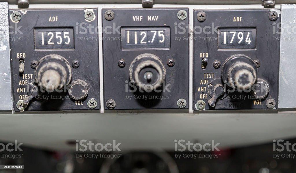 Cockpit analog display stock photo