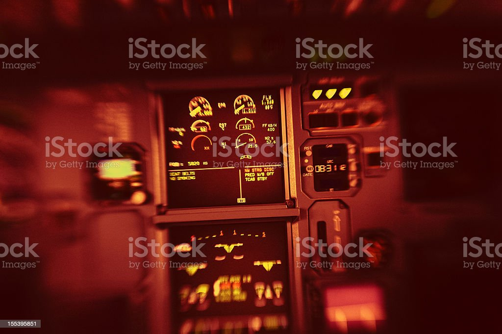 Cockpit Detail Airbus A320 royalty-free stock photo
