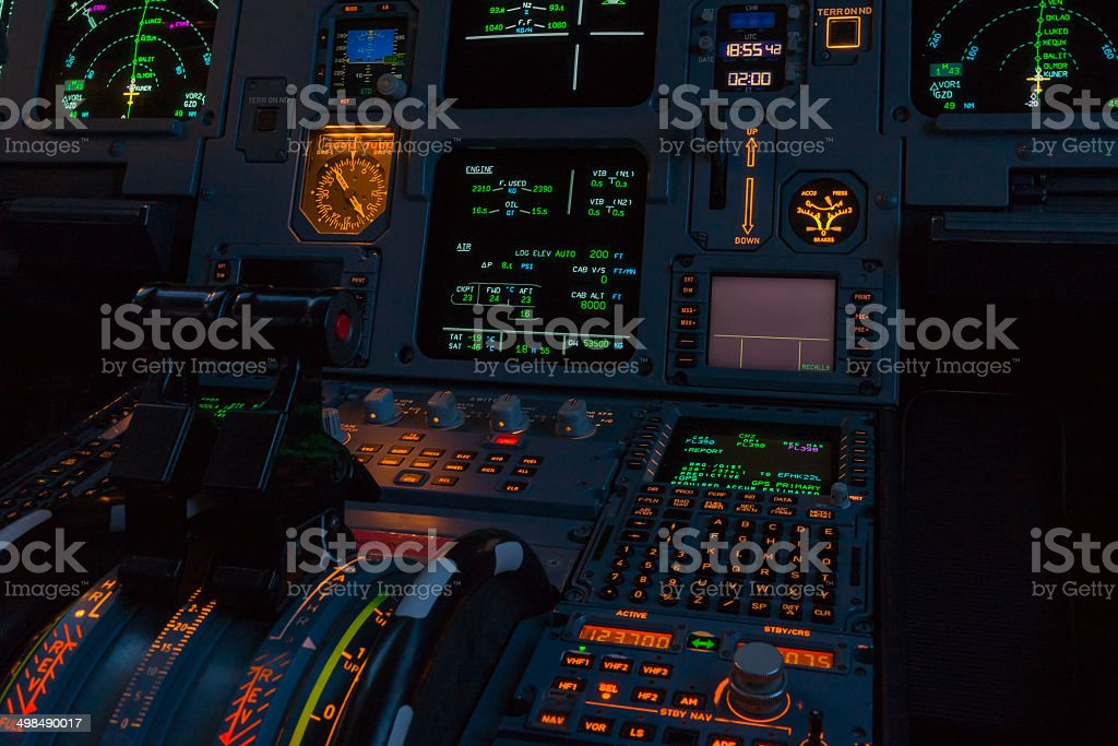 Cockpit Equipment stock photo