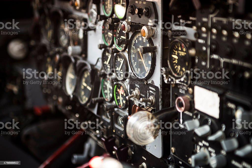 Cockpit-Indikatoren. Lizenzfreies stock-foto