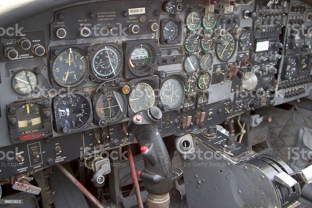 Cockpit Instrument Panel royalty-free stock photo