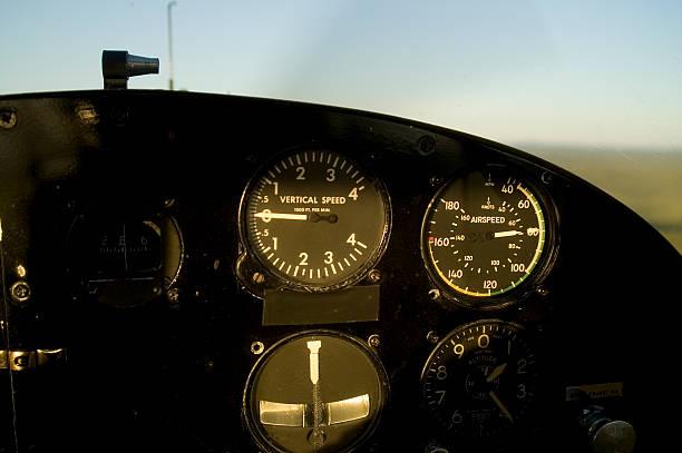 Cockpit of a floatplane stock photo