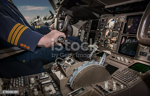istock Cockpit of an airplane during a flight 476996392