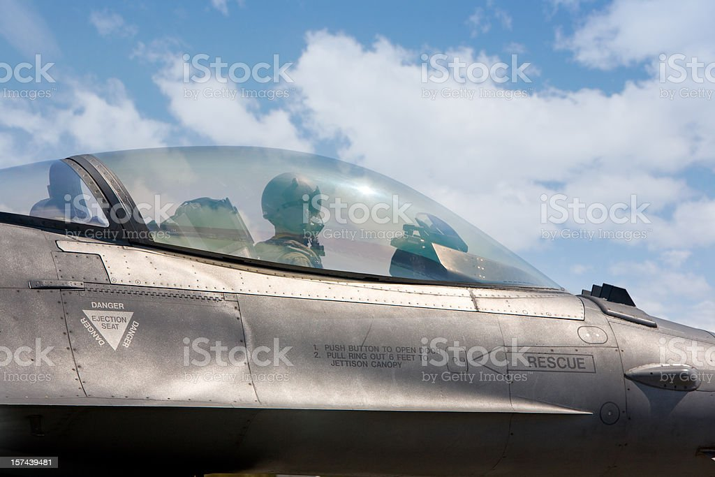 F 16 Cockpit royalty-free stock photo