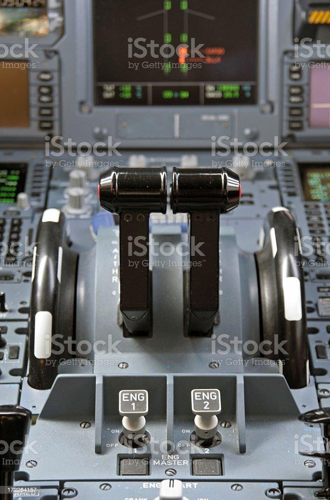 A330 Cockpit royalty-free stock photo