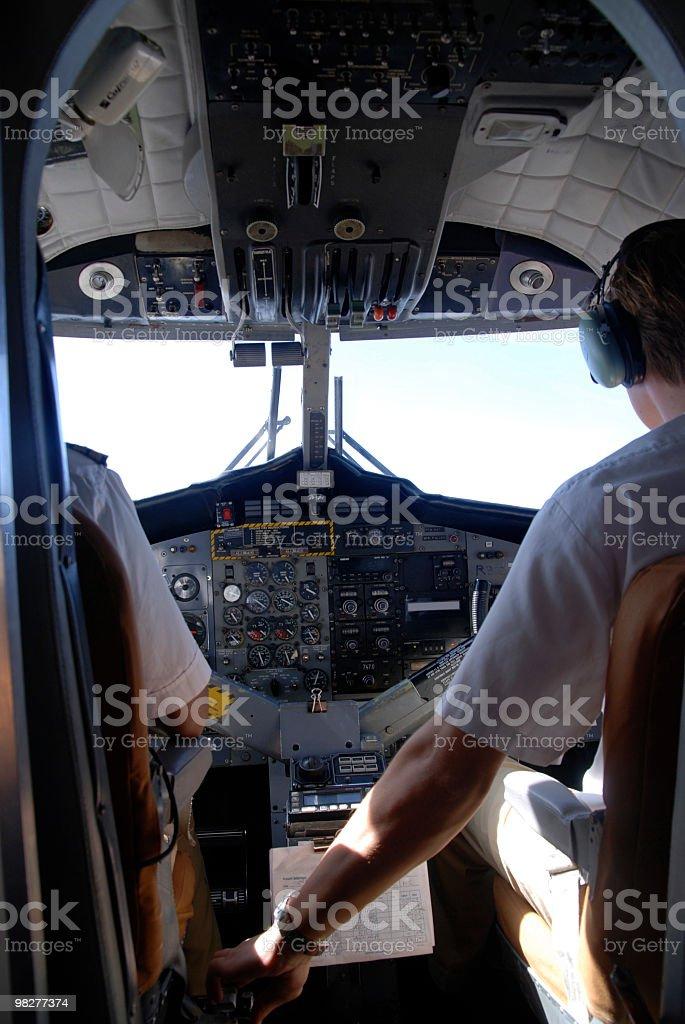 Cabina di pilotaggio foto stock royalty-free