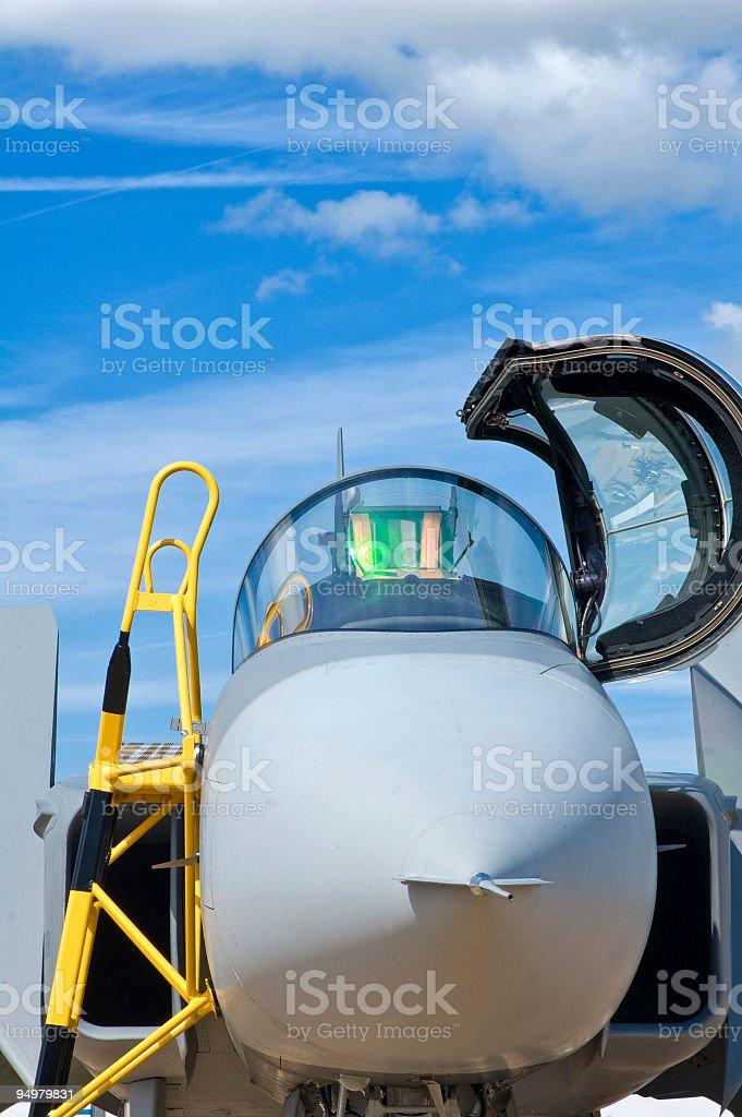 Cockpit ready royalty-free stock photo
