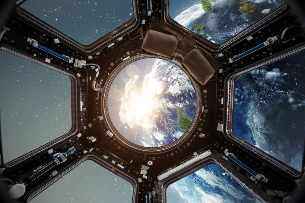 국제 우주 정거장에서 조종석 보기 - 조종석 뉴스 사진 이미지