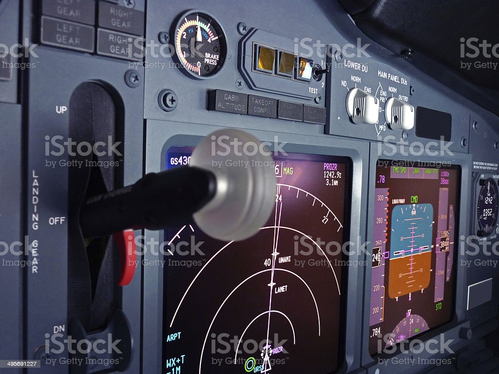 Cockpit View Of Boeing 737 Stock Photo Download Image Now