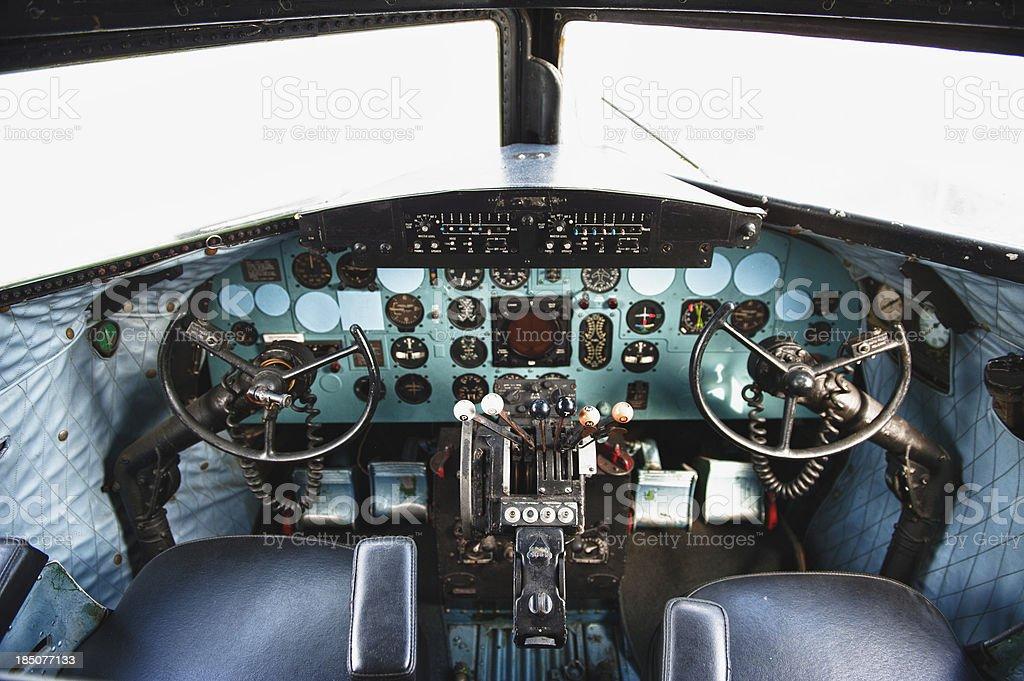 Cockpit Vintage royalty-free stock photo