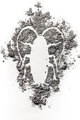 istock Cockroach silhouette drawing made in ash, dust, dirt, filth 648923378