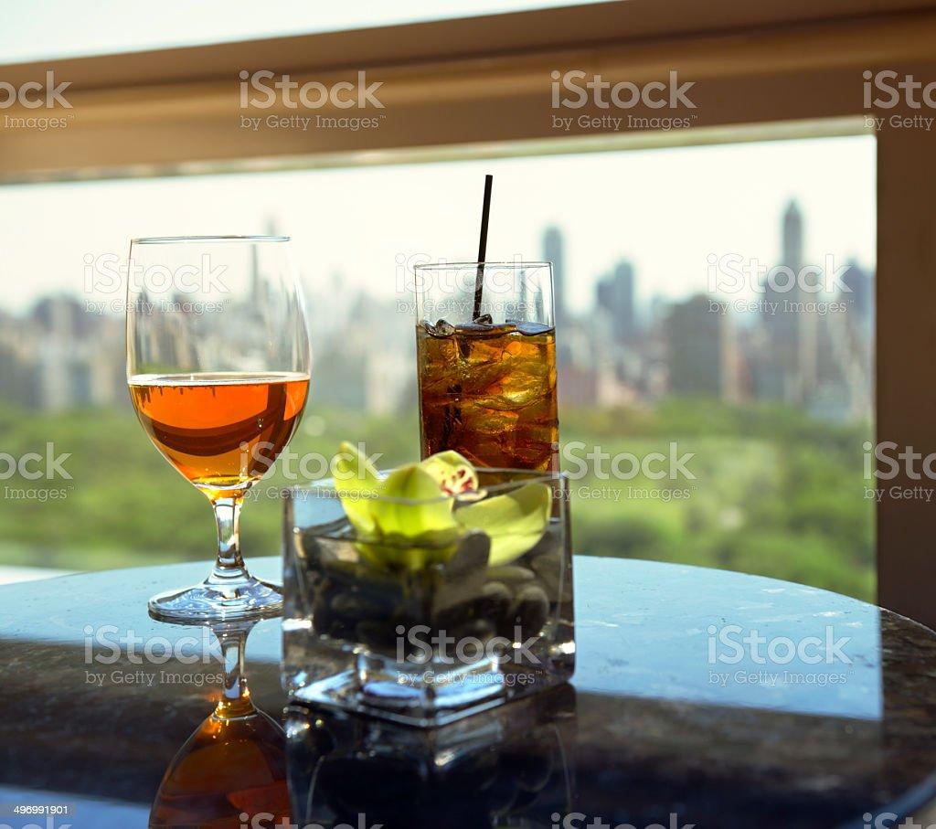 Cocktail e birra - foto stock