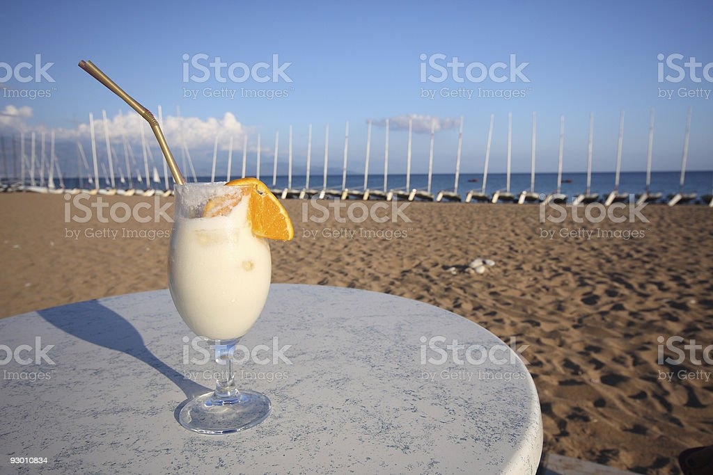 Cocktail at the beach royalty-free stock photo