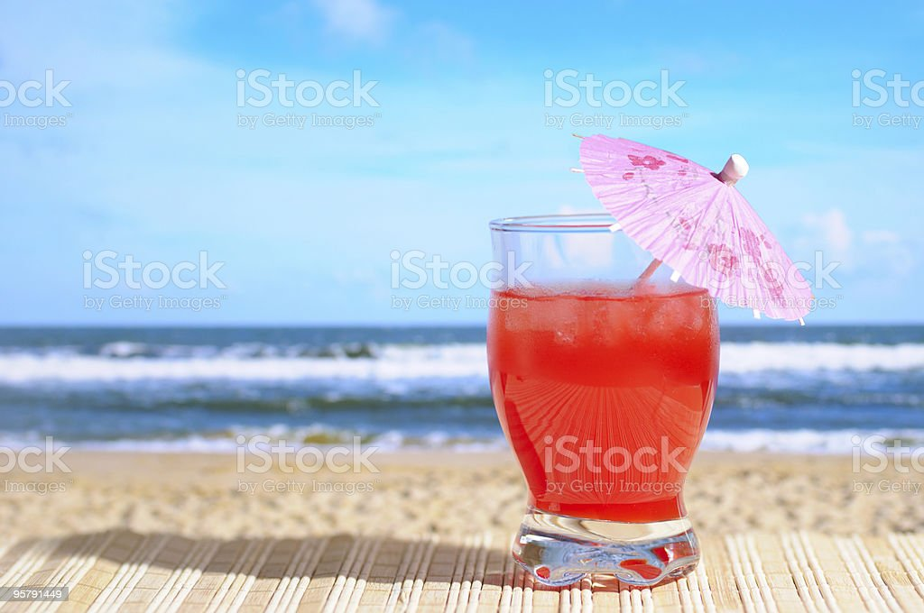 Cocktail at the Beach stock photo
