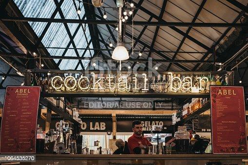 istock Cocktail Bar in Mercato Metropolitano market in London, UK. 1064535270