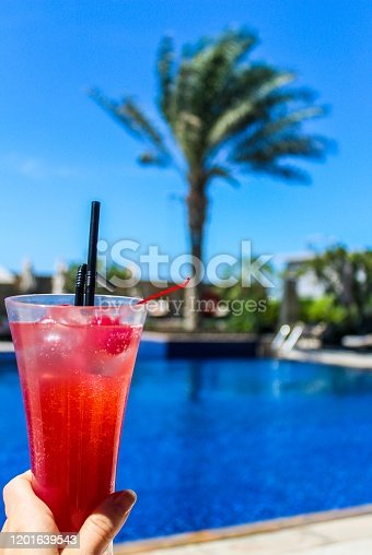 Cocktail by the pool in Dubai