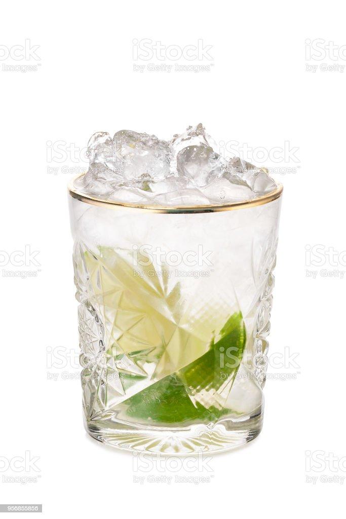 Cocktail Caipirinha or Caipiroska stock photo