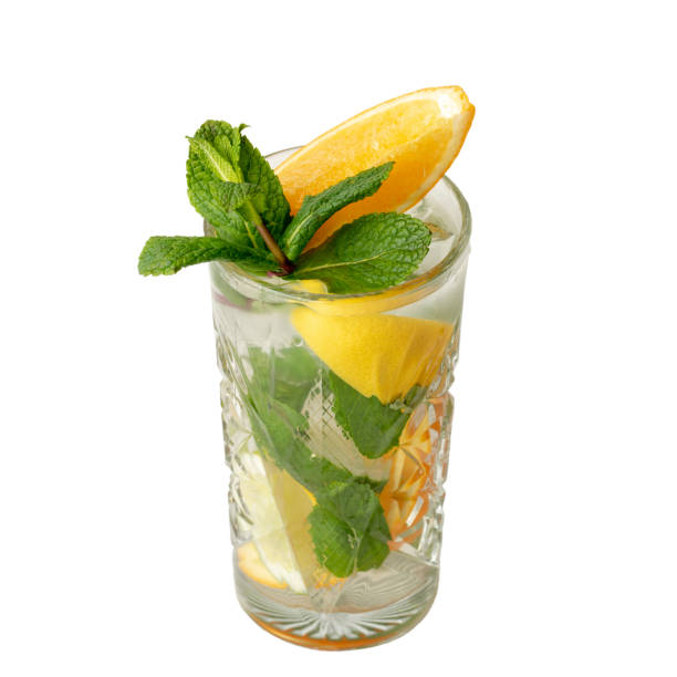 Cocktail drink isolation on a white stock photo