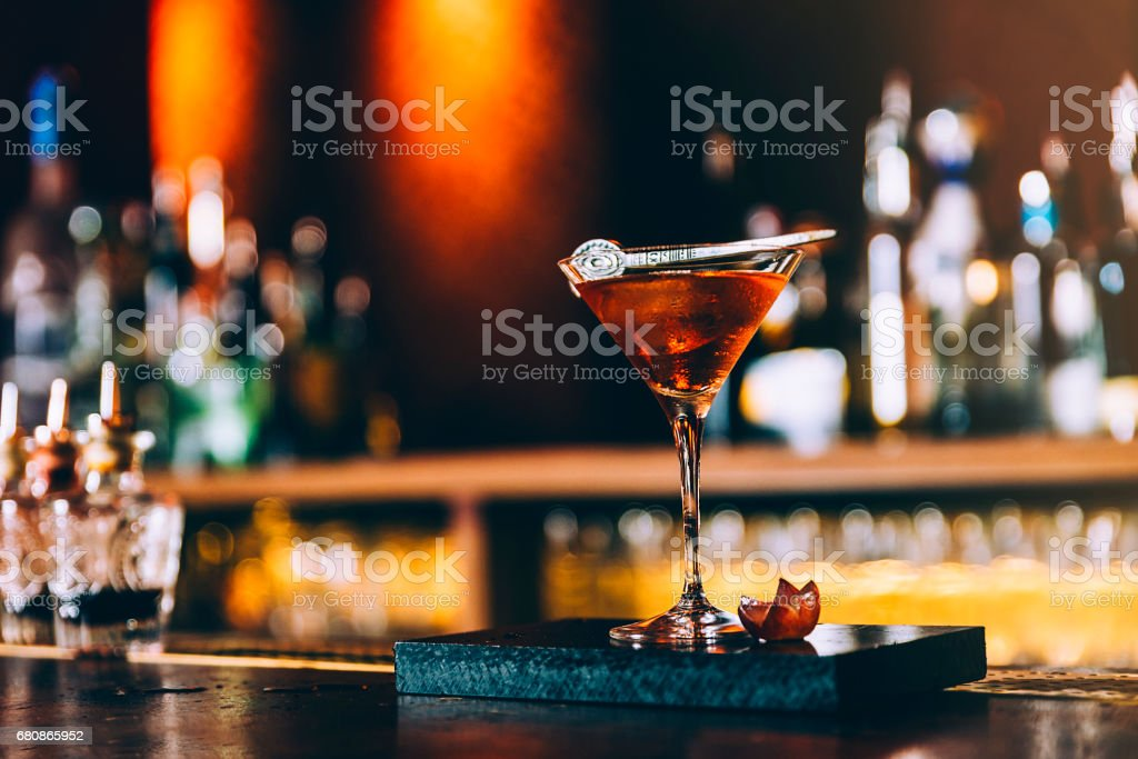 Cocktail drink on night club. royalty-free stock photo