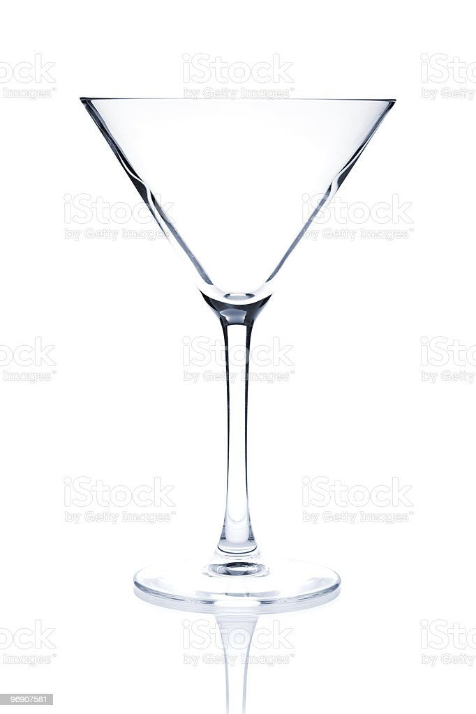 Cocktail Glass collection - Martini royalty-free stock photo