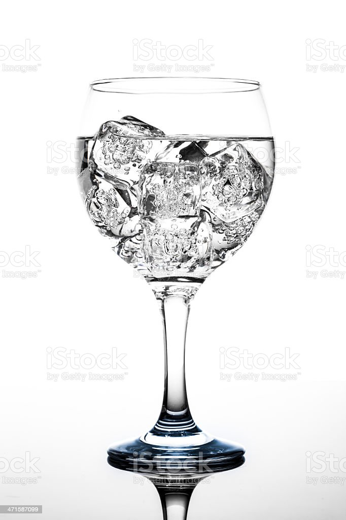 Cocktail glass over white background royalty-free stock photo