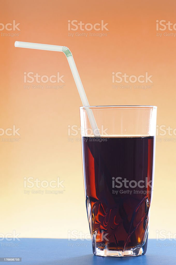 Cocktail glass with jackstraw royalty-free stock photo
