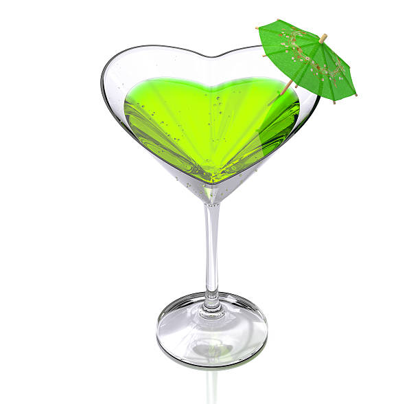 cocktail  heart-shaped stock photo