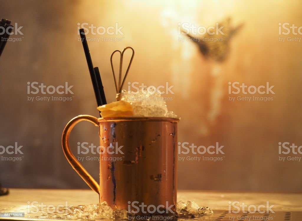 Cocktail In a Copper Glass foto stock royalty-free