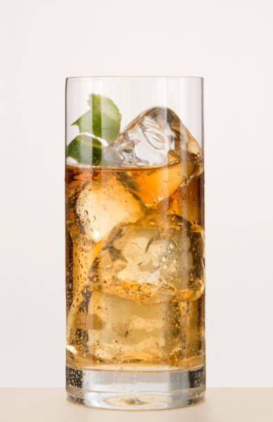 cocktail in a long glass stock photo