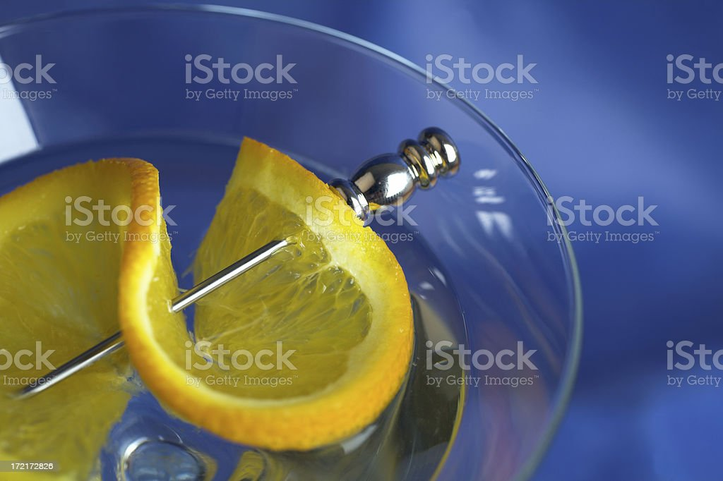 Cocktail in blue royalty-free stock photo
